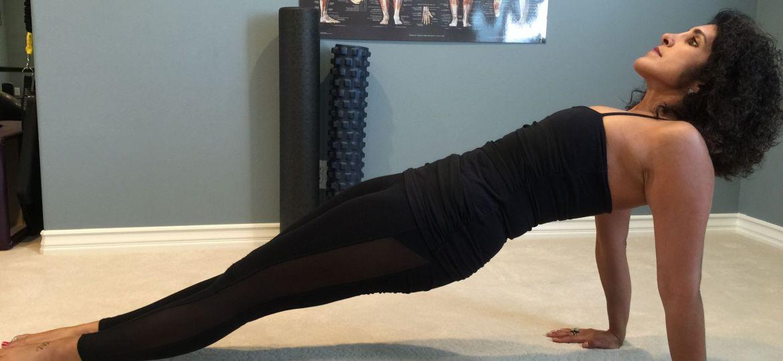 Reverse Plank Straight Leg