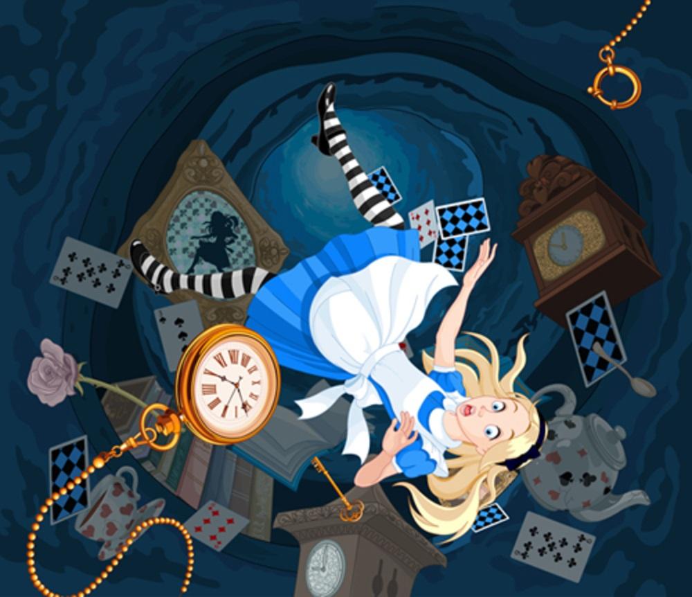 Alice in wonderland alice falling-5419