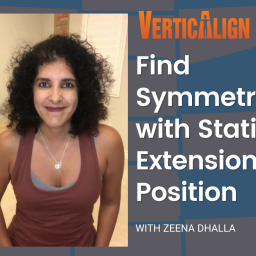 find symmetry with static extension position